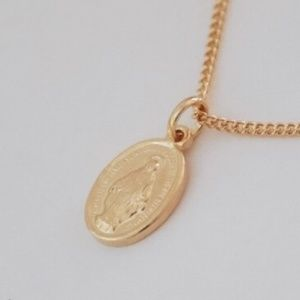 Jewelry - Petite Virgin Mary Necklace 18K Gold Filled